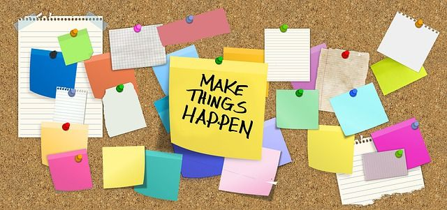 """Nota que dice """"Make things happen""""."""""""